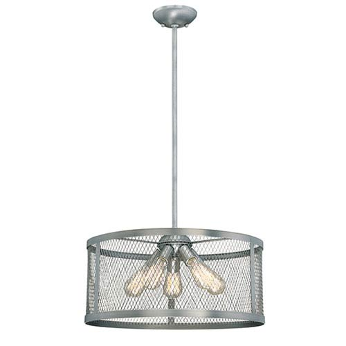 Akron Brushed Pewter Five-Light Pendant