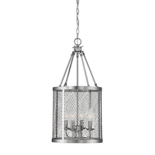 Akron Brushed Pewter 12-Inch Four-Light Pendant
