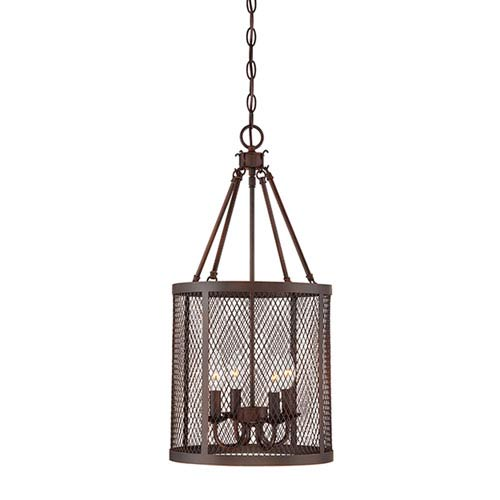 Akron Rubbed Bronze 12-Inch Four-Light Pendant