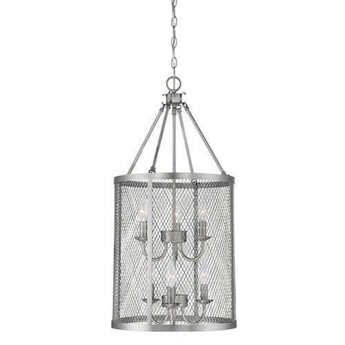 Akron Brushed Pewter Six-Light Pendant