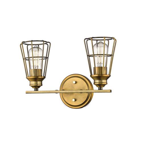 Brass Two-Light Vanity