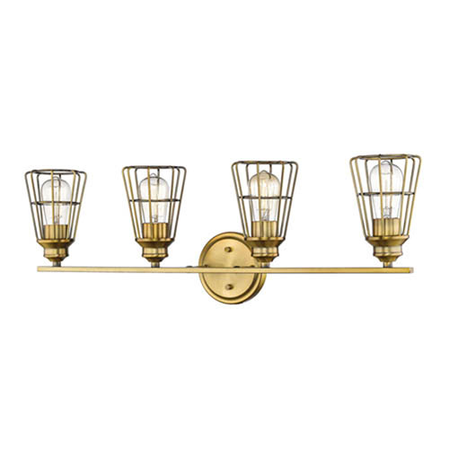 Millennium Lighting Brass Four-Light Vanity