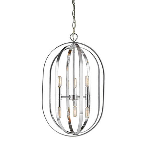 Chrome Six-Light Pendant