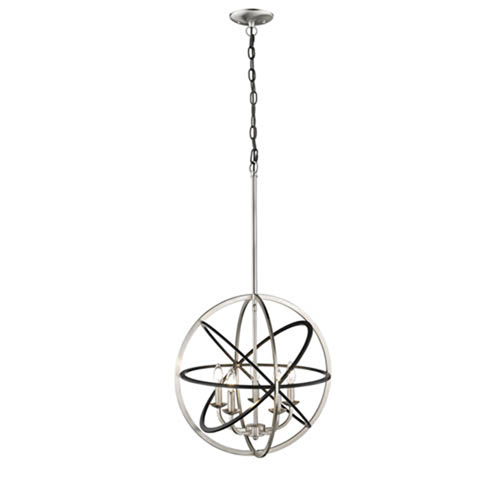 Millennium Lighting Matte Black and Brushed Nickel Five-Light Pendant