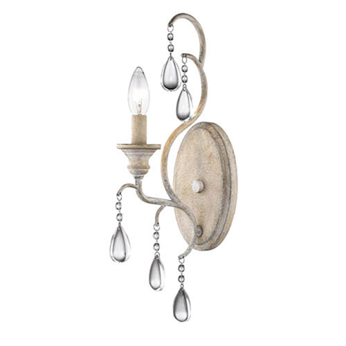 Vintage White One-Light Wall Sconce