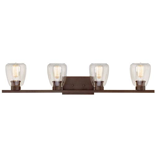 Rubbed Bronze Four-Light Vanity