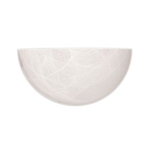 Millennium Lighting White One-Light Sconce with Faux Alabaster Glass