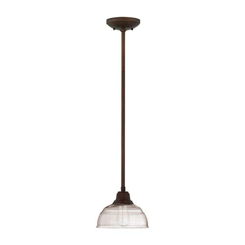 Millennium Lighting Neo-Industrial Rubbed Bronze 44 x 8-Inch One Light Mini Pendant with Clear Glass