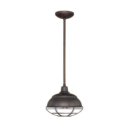 Neo-Industrial Rubbed Bronze One-Light Mini Pendant