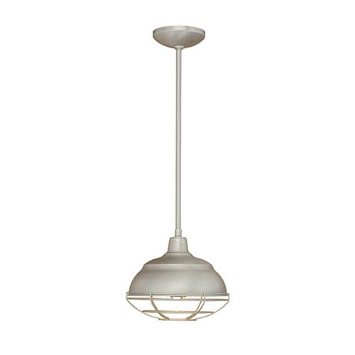 Neo-Industrial Satin Nickel One-Light Mini Pendant