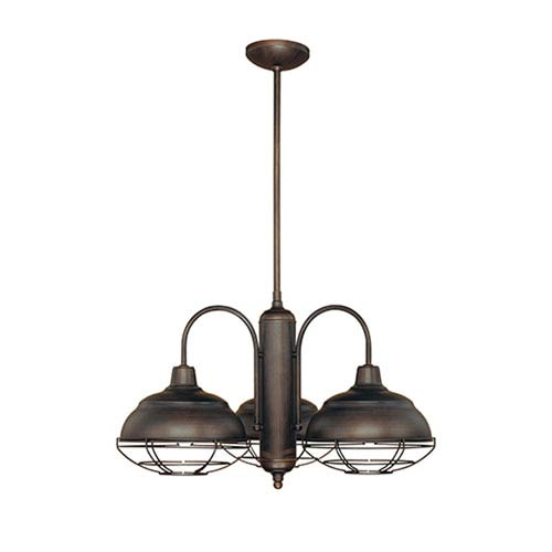 Millennium Lighting Neo-Industrial Rubbed Bronze Three-Light Chandelier
