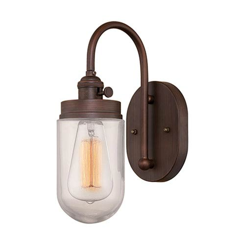 Millennium Lighting Neo-Industrial Rubbed Bronze One Light Sconce with RGCNR Glass