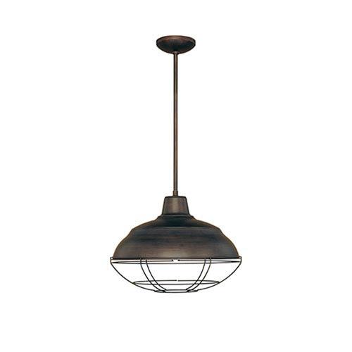 Millennium Lighting Neo-Industrial Rubbed Bronze One-Light Pendant