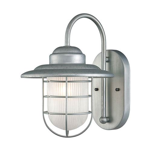 R Series Galvanized One-Light Outdoor Wall Bracket
