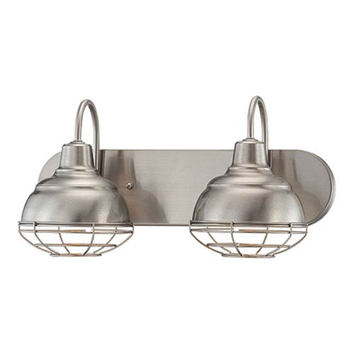 Millennium Lighting Neo-Industrial Satin Nickel 9 x 18-Inch Two Light Vanity Fixture