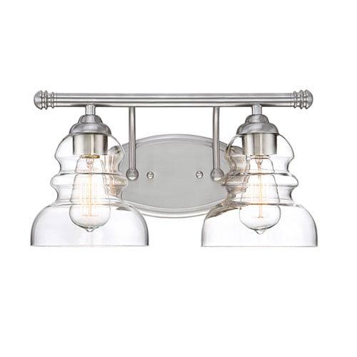 Satin Nickel Two-Light Vanity