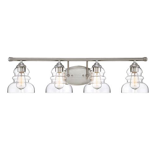 Satin Nickel Four-Light Vanity