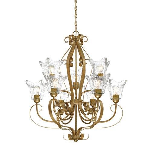 Chatsworth Vintage Gold Nine-Light Chandelier