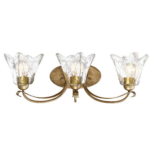 Millennium Lighting Chatsworth Vintage Gold Three-Light Vanity