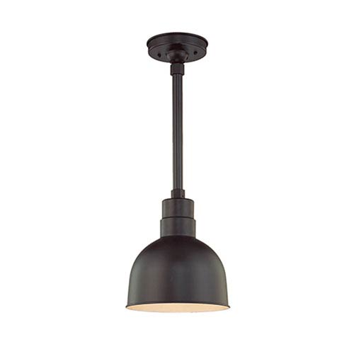 Millennium Lighting R Series Satin Black 10-Inch Outdoor Pendant with 24-Inch Stem