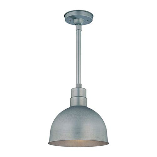 Millennium Lighting R Series Galvanized 12-Inch Outdoor Pendant with 36-Inch Stem