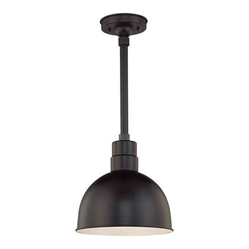 Millennium Lighting R Series Satin Black 12-Inch Outdoor Pendant with 24-Inch Stem