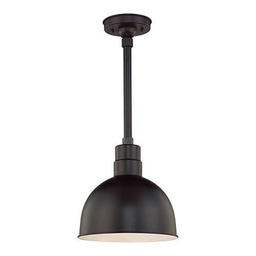 Millennium Lighting R Series Satin Black 12-Inch Outdoor Pendant with 36-Inch Stem