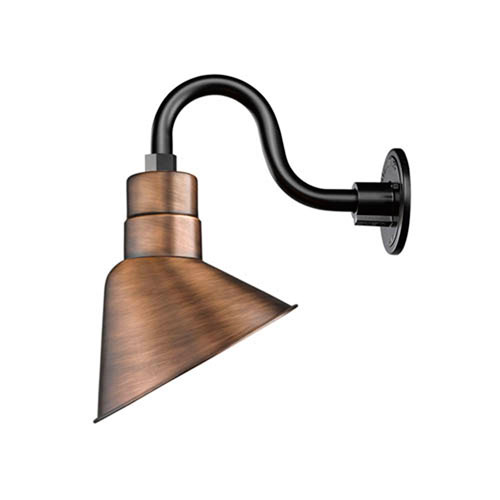 Millennium Lighting R Series Natural Copper One-Light Angle Shade