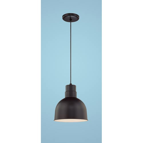 R Series Satin Black 10-Inch Outdoor Cord Pendant