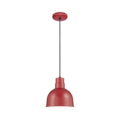 R Series Satin Red 10-Inch Outdoor Cord Pendant