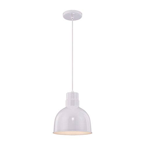 R Series White 10-Inch Outdoor Cord Pendant