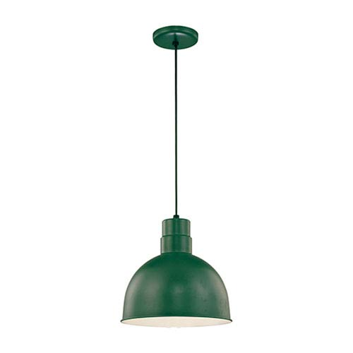 R Series Satin Green 12-Inch Outdoor Cord Pendant