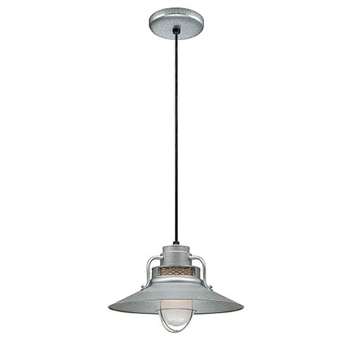 R Series Galvanized 14-Inch Outdoor Cord Pendant