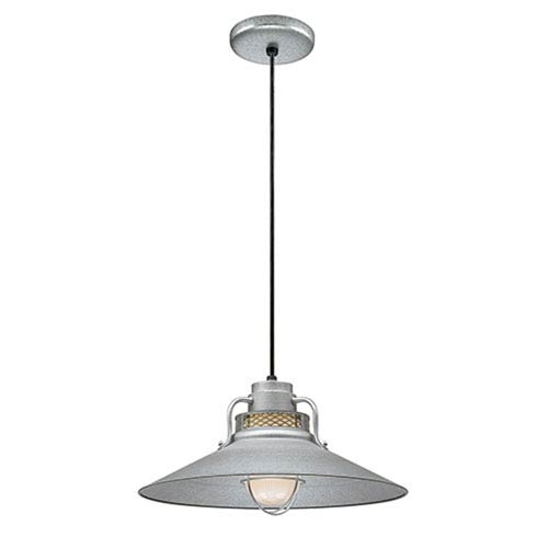 Millennium Lighting R Series Galvanized 18-Inch Outdoor Cord Pendant