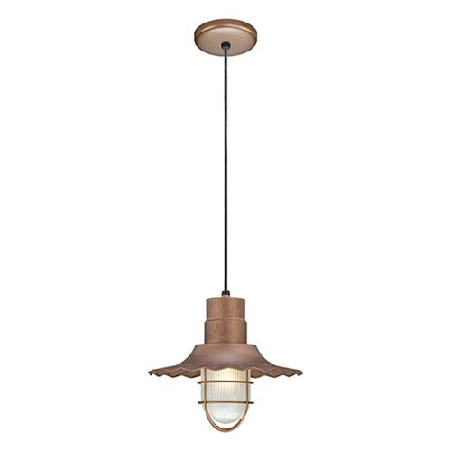 R Series Copper 12-Inch Outdoor Cord Radial Wave Pendant