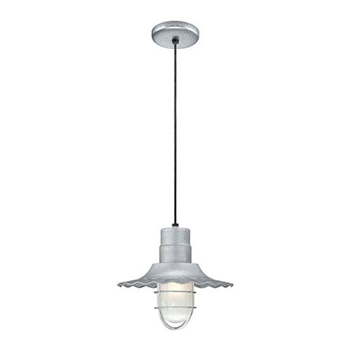 R Series Galvanized 12-Inch Outdoor Cord Radial Wave Pendant