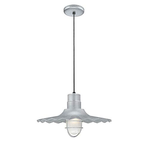 R Series Galvanized 18-Inch Outdoor Cord Radial Wave Pendant