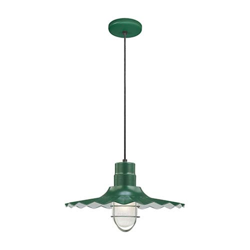 Millennium Lighting R Series Satin Green 18-Inch Outdoor Cord Radial Wave Pendant