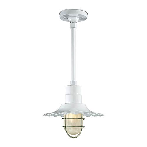 Millennium Lighting R Series White 12-Inch Outdoor Radial Wave Pendant Shade Only
