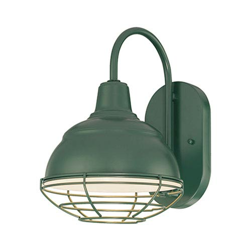 R Series Satin Green One-Light Outdoor Wall Bracket