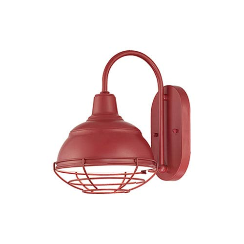R Series Satin Red One-Light Outdoor Wall Bracket