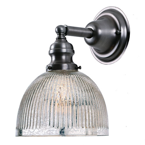 Union Square Gun Metal One-Light Wall Sconce with Mercury Glass
