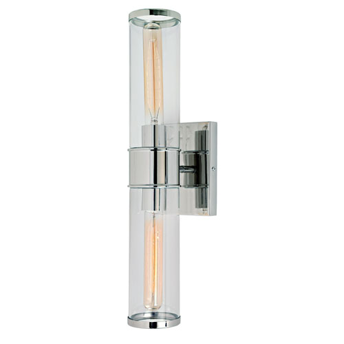 Gramercy Polished Nickel Two-Light Wall Sconce