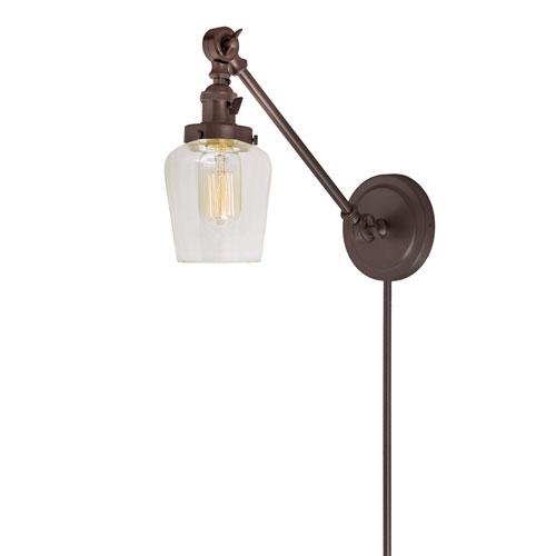 JVI Designs Soho Oil Rubbed Bronze One-Light Swing Arm Wall Sconce