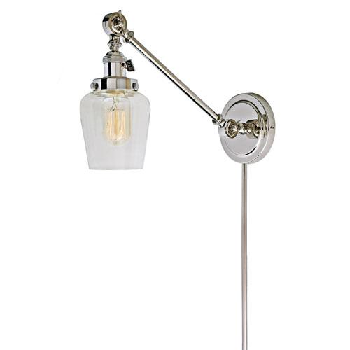 Soho Polished Nickel One-Light Swing Arm Wall Sconce