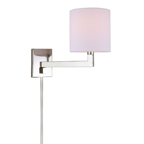 Allston Polished Nickel One-Light Swing Arm Wall Sconce