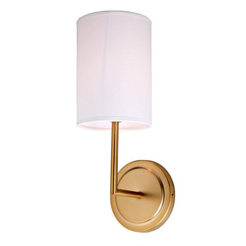 JVI Designs Elliot Satin Brass One-Light Wall Sconce