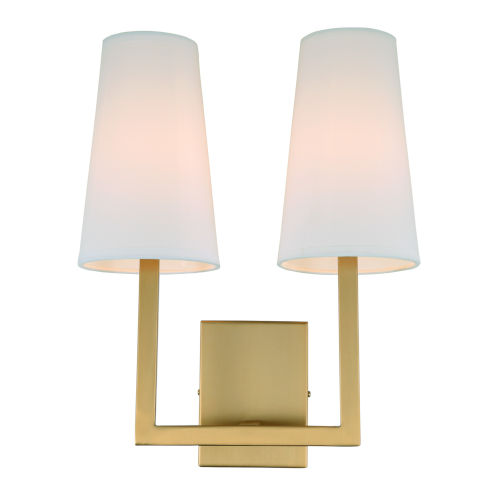 Sullivan Satin Brass 13-Inch Two-Light Wall Sconce