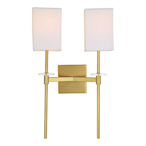 Marcus Satin Brass 13-Inch Two-Light Wall Sconce