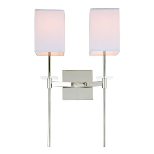 Marcus Polished Nickel 13-Inch Two-Light Wall Sconce